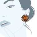 Orecchini tapestry a fiore Daisybrown