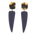 orecchini in resina corno viola Purplecorn