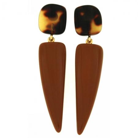 orecchino resina color cammello Camelcorn