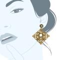 Orecchini pendenti ottone anticato Minuetto Piccolo