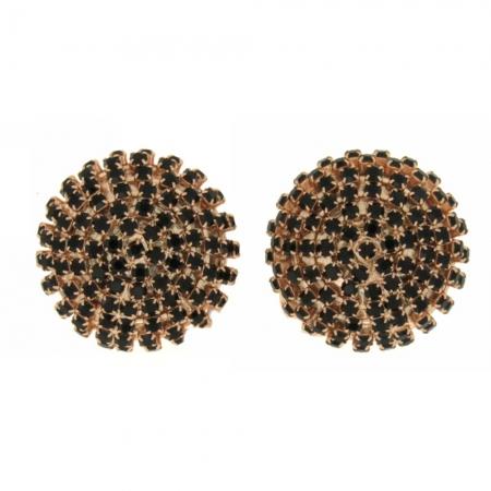 Orecchini cristalli Swarovski Black Boule