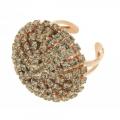 Anello cristalli Swarovski Fumée Boule Ring