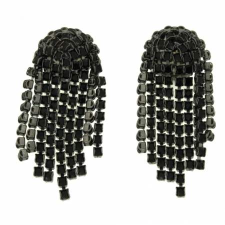 Orecchini cristalli neri Blackfalls