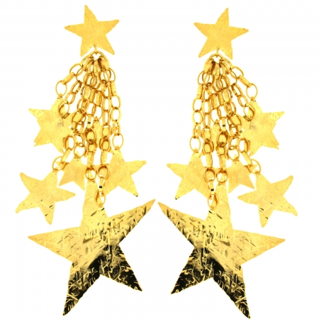 orecchini dorati a stella StarFall