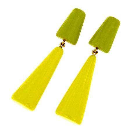 Orecchini in resina giallo acido Anny