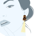orecchini in resina bianchi