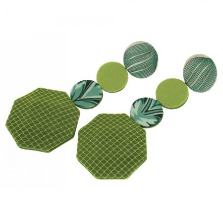 orecchini in tessuto verde acido Green Supernet