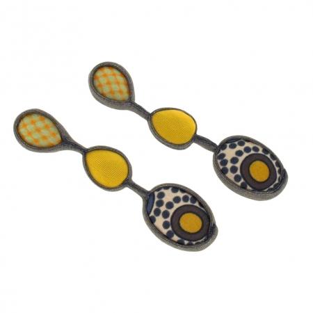 orecchini in tessuto gialloYellow Netgem 3