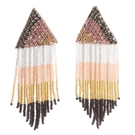 Orecchini perline e strass Pink Courtain