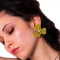orecchini smalto giallo fiore Papavero pop