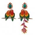 orecchini tropical Pappagalli