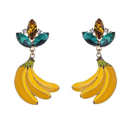Orecchini smalto frutta Tro-Banane