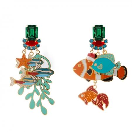 Orecchini smalto Nemo