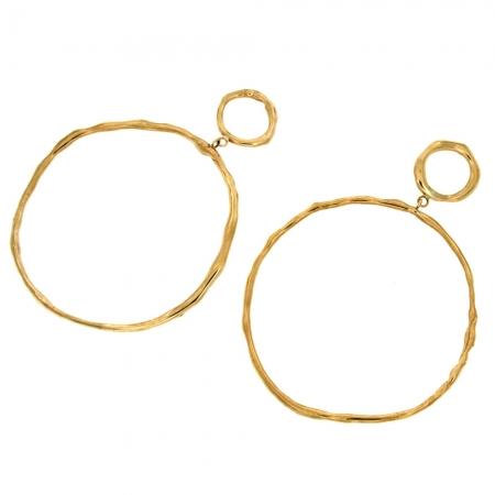 orecchini cerchio bronzo Tondavia