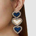 orecchini tre cuori pendenti
