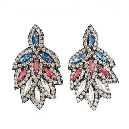 orecchini con strass e cristalli a navettes