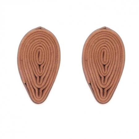 orecchini in pelle color cammello Goccia C