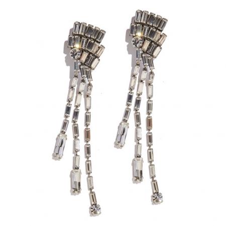 orecchino lungo cristalli Cher