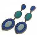 orecchini in tessuto azzurro Luxgem Uno