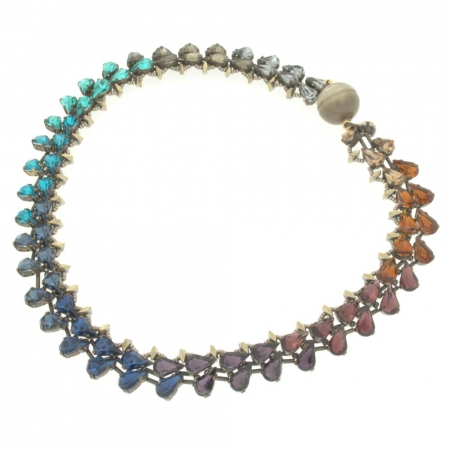 Collana gocce di cristallo Rainbow Uno