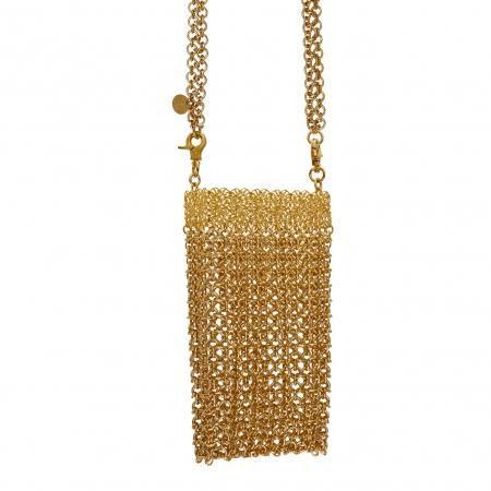 borsetta metallizzata color oro