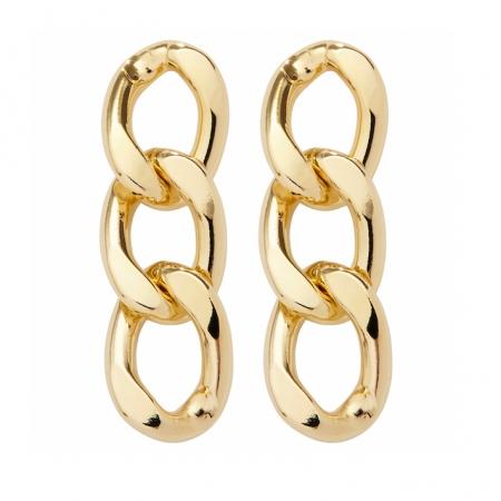 orecchini catena grumetta oro